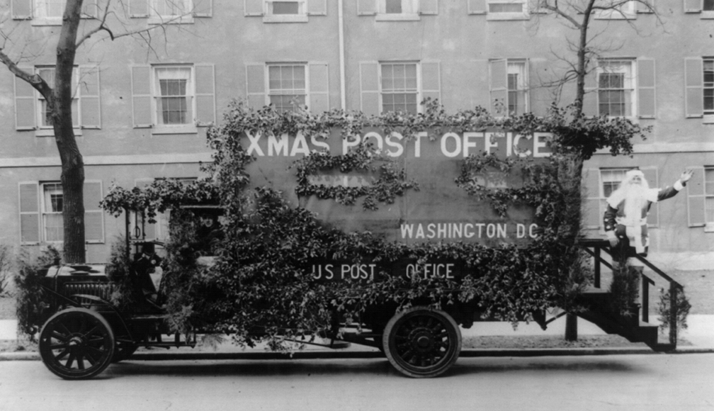 Weihnachtspost, Washington, D.C., 1921. Quelle: Photoprint by National Photo Co