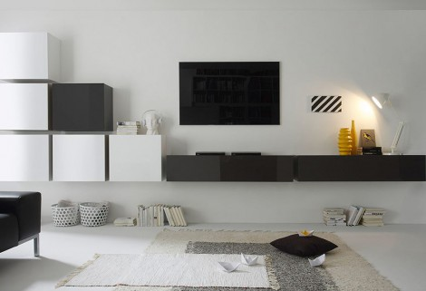 5 ideen f r die moderne wohnwand. Black Bedroom Furniture Sets. Home Design Ideas